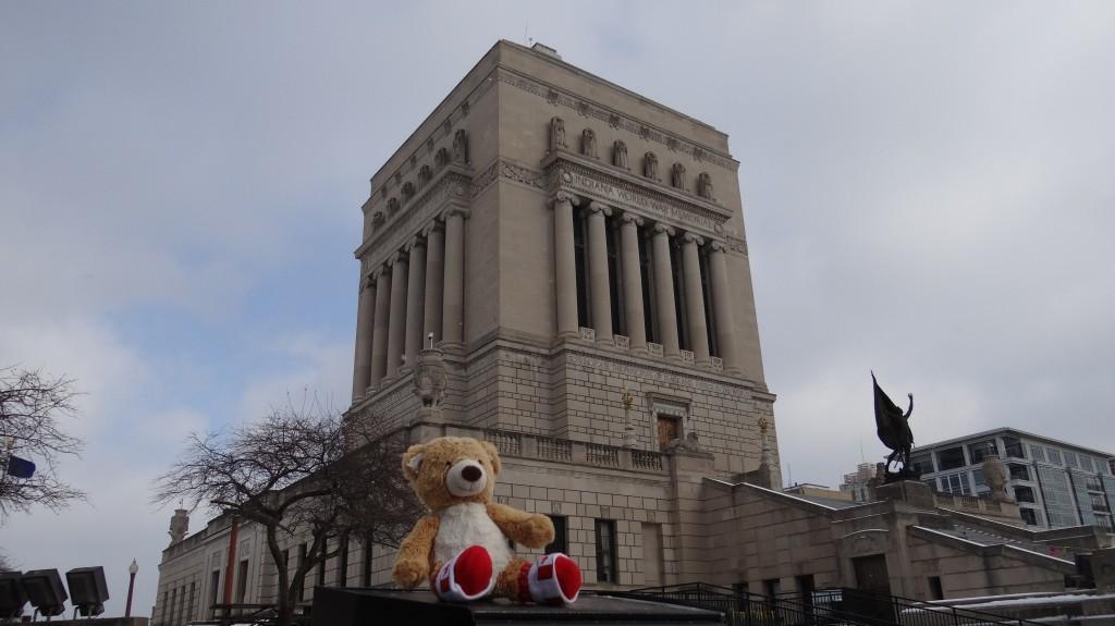 Teddy at War Memorial