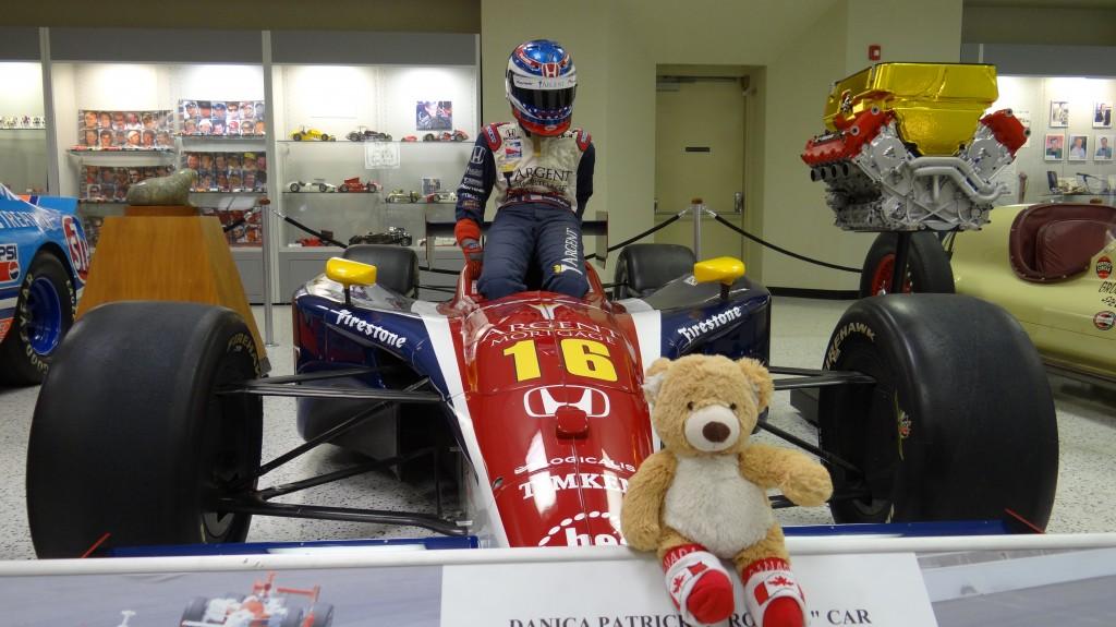 Teddy at Race Car